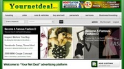 Advertise your products,  services and business FREE at yournetdeal.com