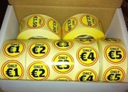 Sticker,  label,  One roll only €10